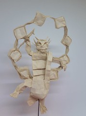 Raijin - God of Thunder (Bart Davids) Tags: raijin budhism god thunder sanjusangendo japan origami paper box pleat complex