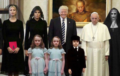 Caption This Photo Friday. (Poupée Chinoise) Tags: trump horror shining vampire ghostbusters fascism dictator satan excorcist demon impeachment