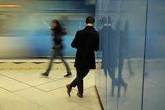 Platform 4 (jhnmccrmck) Tags: melbourne victoria xt1 xf1855mm classicchrome fujifilm fujifilmxt1 people blurred 3000 parliamentstation