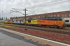 Colas 67027 'Charlotte', Preserved 37075 & Colas 37521 (Barry Duffin) Tags: 67027 37075 37521 doncaster colas class67 class37 0z75 diesel locomotive eastcroft kwvlr