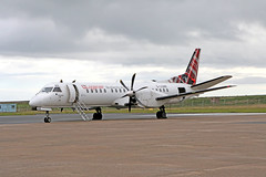 G-LGNR Saab 2000 (Roger Wasley) Tags: loganair saab2000 glgnr kirkwall airport orkney scotland plane aircraft