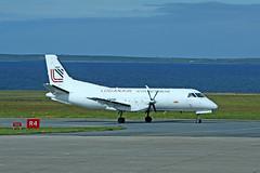 G-GNTB Saab 340AF (Roger Wasley) Tags: ggntb saab340 loganair royalmail kirkwall airport cargo orkney scotland plane aircraft freight