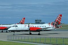 G-LGNF Saab 340B (Roger Wasley) Tags: loganair saab340b glgnf kirkwall airport orkney scotland plane aircraft