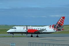 G-LGNE Saab 340B (Roger Wasley) Tags: glgne saab340b loganair kirkwall airport orkney scotland plane aircraft