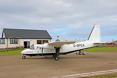 G-BPCA BN-2B-26 Islander (Roger Wasley) Tags: gbpca bn2b26 islander loganair northronaldsay airport orkney scotland plane aircraft
