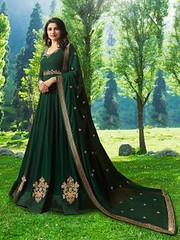 Charming Dark Green Designer Faux Georgette Anarkali Suit (zeelpin) Tags: wedding partywear zeelpin exclusive demand event special sales latest morden style purchase royalty tranding branding currant traditional colourful glamor popular glamour discount b4ufashion indianfashion look