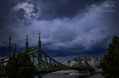Budapest 21 (Andrew Teece) Tags: budapest hungary liberty bridge stormy canon eos80d landscape architecture danube gellert ferenc
