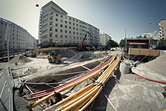 Helsinki (Tuomo Lindfors) Tags: helsinki suomi club16 fisheye alienskin exposure tietyö katutyö streetwork
