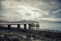 Croggan Pier.jpg (JuSlaughter) Tags: wind spring storm pier water mountains canon sea rock scotland shore derelict cloud ocean isle clouds croggan jetty rain mountain mull