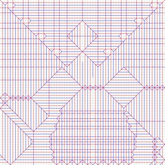 Raijin - crease pattern (Bart Davids) Tags: god thunder raijin buddhism buddha japan crease pattern super complex origami paper box pleat