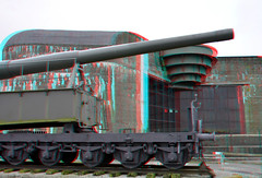 Musee Batterie Todt Audinghen 3D (wim hoppenbrouwers) Tags: musee batterie todt audinghen 3d anaglyph stereo redcyan atlantikwall bunker