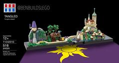 Lego Disney - Tangled Skyline MOC (Box) (BenBuildsLego) Tags: tangled disney disneys lego skyline architecture nanoscale microscale micro scale legos creative moc rapunzel tower city castle hill movie 3d beautiful cool instructions afol benbuildslego