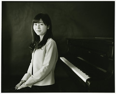 A teacher of music (Tamakorox) Tags: musicteacher piano highschool portrait art japan japanese asia lights shadow pleasure film analoguecamera b&w mamiyarb67prosd kodaktmax400 foma fomativefiber 日本 日本人 光 影 喜び 音楽 ピアノ 先生 高等学校 ポートレート
