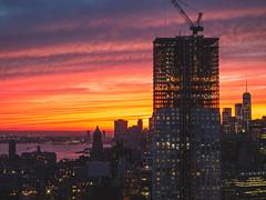 Sunset (Izzythecat) Tags: nyc sunset sunsetglow sunsetcolors citysunset cityscape newyork landscape landscapephotography