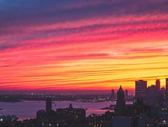 Fire sky (Izzythecat) Tags: nyc sunset sunsetglow sunsetcolors citysunset cityscape newyork landscape landscapephotography