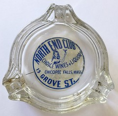 NORTH END CLUB CHICOPEE FALLS MASS. (ussiwojima) Tags: northendclub club bar cocktail lounge girlie chicopeefalls massachusetts glass advertising ashtray