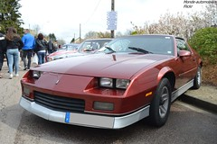 Chevrolet Camaro (Monde-Auto Passion Photos) Tags: voiture vehicule auto automobile chevrolet camaro coupé red rouge sportive rare rareté rassemblement france courtenay