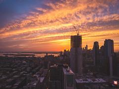 evening show (Izzythecat) Tags: nyc sunset sunsetglow sunsetcolors citysunset cityscape newyork landscape landscapephotography