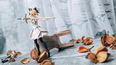Artoria Pendragon (Lily) (GuiltyKnights) Tags: red アルトリア・ペンドラゴン リリィ artoria pendragon saber lily toy photography photoshoot fate grand order stay night zero fsn fgo macro diorama goodsmile company excalibur anime girl blonde ponytail