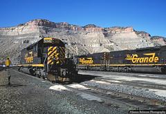 No Foolin' on April Fool's Day (jamesbelmont) Tags: riogrande drgw helper utah railroad railway locomotive train emd tunnelmotor sd40t2 bookcliffs coal