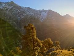 Glorious morning (Onlyshilpi) Tags: mountain sunrise trek dharmasala himalaya colors nature mobilephotography