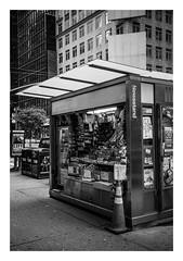 FILM - Newsstand (fishyfish_arcade) Tags: 35mm analogphotography bw blackwhite blackandwhite canonsureshotz135 filmphotography filmisnotdead hp5 istillshootfilm monochrome newyork analogcamera compact film ilford mono streetphotography newsstand