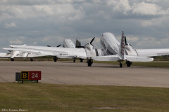 Daks Departure (Baz Aviation Photo's) Tags: dakota dc3 c47 daks over normandy duxford egsu qfo