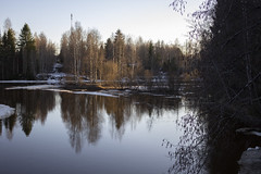 Reflection (Teemu Porola) Tags: reflection finland nature spring water river outside landscape outdoor evening trees countryside ice blue white