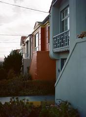Sunset District, San Francisco, California (bior) Tags: red pentax645nii pentax645 pentax 645 mediumformat 120 sanfrancisco sunsetdistrict portra160nc expiredfilm kodakportra house townhouse shadow rowhouse