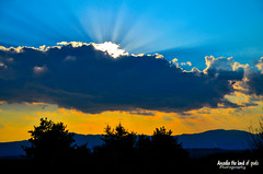 The sun beneath the cloud. (Elias Chris) Tags: arcadia arcadiagreece arkadia megalopolis megalopolisarcadia megalopolisgreece clouds sunrise sun greece