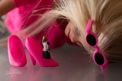 Walk a Mile... (Diann McMillen) Tags: nikond750 tamron90mmmacro woodlandscenics preiser shoes pink barbie theoldwomaninashoe nurseryrhymes toy macromondays childhood childhoodtoys