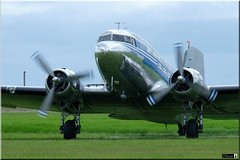 DC-3A, OH-LCH, Finnish Airlines (OlivierBo35) Tags: caen cfr lfrk daksovernormandy dc3 dakota douglas dday skytrain
