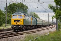 47727 / 47749 Carlton - 8th June 2019 (deltic17) Tags: class47 47727 47749 brush sulzer heritage loco locomotive diesel heritagediesel train passenger charter gbrf mk2 bluegrey canon5dmk3 rail railway ecml