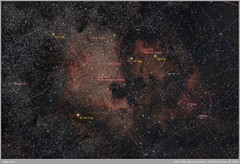 North America & Pelican_Annotated 2 (alexmanzaneraserra) Tags: astrophotography astronomy astrofotografia longexposurenihgtphotography nightscape nightsky nigh tuniverse nebula deepsky