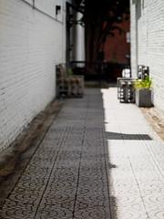 Tile patterns (02) (cizauskas) Tags: tile pattern lines shadow alley eav eastatlanta atlanta georgia streetscene canon canonfd legacylens manualfocus fotodiox