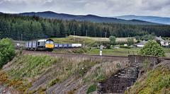 Hitchin' A Ride (whosoever2) Tags: uk united kingdom gb great britain scotland nikon d7100 train railway railroad june 2019 dalwhinnie highland mainline drs class66 66430 4d47 tesco liner