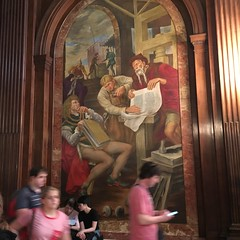 GUTENBERG SHOWING A PROOF TO THE ELECTOR OF MAINZ (PhotonPirate) Tags: new york public library murals ny gutenberg