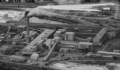Scunthorpe Steelworks (deltic17) Tags: scunthorpe steel steelworks blackwhite factory industry aerial aerialphotography