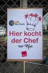 Protest gegen Verkauf der LSG Sky Chefs