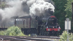 LMS 45690 'Leander' approaching Chester (MT Productions) Tags: trains steam engine locomotive lms 45690 leander special trainspotting train rail railways chester railway station north wales coast line nwcl england united kingdom tour smoking coaches tracks passenger