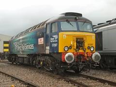 57307 'Lady Penelope' at Crewe (WelshHatter2000) Tags: crewedieseldepot britishrail class573 57307 47225 d1901 brushtraction locomotiveservicesltd type4 diesel locomotive drs virgintrains thunderbird ladypenelope