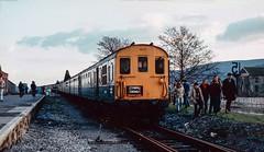 Aberdare High Level 'excursion' station. 1985. (Marra Man) Tags: aberdarehighlevelstation aberdarestation class202 demu 6l hertfordshirerailtours thecymrudemu