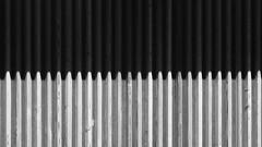 Kontrast (theflyingtoaster14) Tags: kontrast contrast wood holz steel stahl iron eisen hell dunkel dark bright fence zaun sigma 105 makro olympus omd em1 m2 mark 2 sunlight sonnenlicht gegensatz