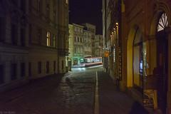 Avondwandeling in een provinciestad (Tim Boric) Tags: olomouc denisova ztracená tram tramway streetcar strassenbahn tramvaj nacht night avond