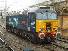 57308 at Crewe station (WelshHatter2000) Tags: brushtraction 57308 crewe jamieferguson directrailservices thunderbird drs virgintrains type4 class573 47846 47647 47091 d1677 diesel locomotive