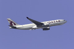 Qatar Cargo A330F A7-AFJ at London Heathrow LHR/EGLL (dan89876) Tags: qatar cargo airbus a330 a332 a330243f a330f freighter a7afj london heathrow international airport takeoff 09r banking lhr egll