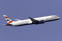 British Airways 787-9 G-ZBKM at London Heathrow LHR/EGLL (dan89876) Tags: british airways boeing 787 dreamliner b789 7879 gzbkm london heathrow international airport takeoff 09r banking lhr egll