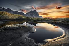 Vestrahorn sunrise Iceland (EtienneR68) Tags: a7r3 a7riii eau iceland islande landscape mer montagne montain nature paysage reflection reflet scenery scenic sea sony stokknes sunrise travel vestrahorn water voyage