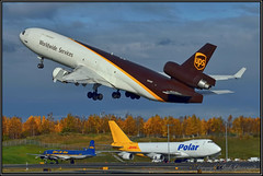 N293UP United Parcel Service UPS (Bob Garrard) Tags: n293up united parcel service ups mcdonnell douglas md11f md11 and panc everts dc6 polar 747