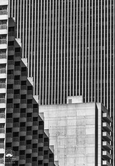Straight Lines (allentimothy1947) Tags: architechure art bw califonia embaradarocenter financialdistricts hyattregency otherkeywords places sanfrancisco balconey building concrete facade lines sides structure windows